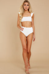 2 Caught Up In Summer White Eyelet Bikini Top at reddress.com