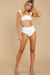 3 Caught Up In Summer White Eyelet Bikini Top at reddress.com