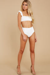 4 Caught Up In Summer White Eyelet Bikini Top at reddress.com