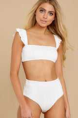 5 Caught Up In Summer White Eyelet Bikini Top at reddress.com