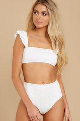 6 Caught Up In Summer White Eyelet Bikini Top at reddress.com