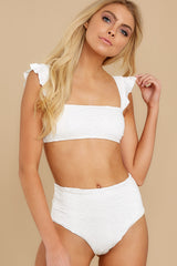 1 Caught Up In Summer White Eyelet Bikini Top at reddress.com