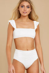 7 Caught Up In Summer White Eyelet Bikini Top at reddress.com