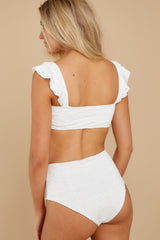 8 Caught Up In Summer White Eyelet Bikini Top at reddress.com