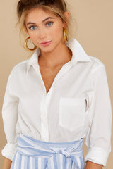 10 Not So Risky Business White Button Up Top at reddress.com