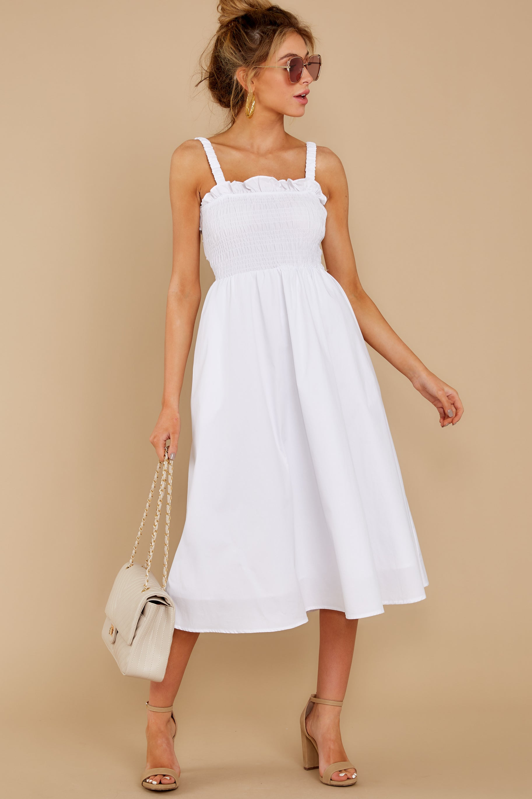 2 Right This Way White Midi Dress at reddressboutique.com
