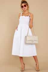 4 Right This Way White Midi Dress at reddressboutique.com