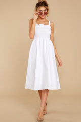 6 Right This Way White Midi Dress at reddressboutique.com