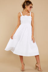 1 Right This Way White Midi Dress at reddressboutique.com