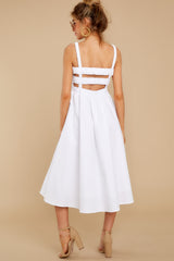 8 Right This Way White Midi Dress at reddressboutique.com