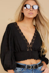 1 A Good Time Black Lace Crop Top at reddress.com