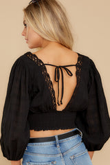 8 A Good Time Black Lace Crop Top at reddress.com