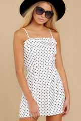 6 Came To Charm White Polka Dot Dress at reddressboutique.com
