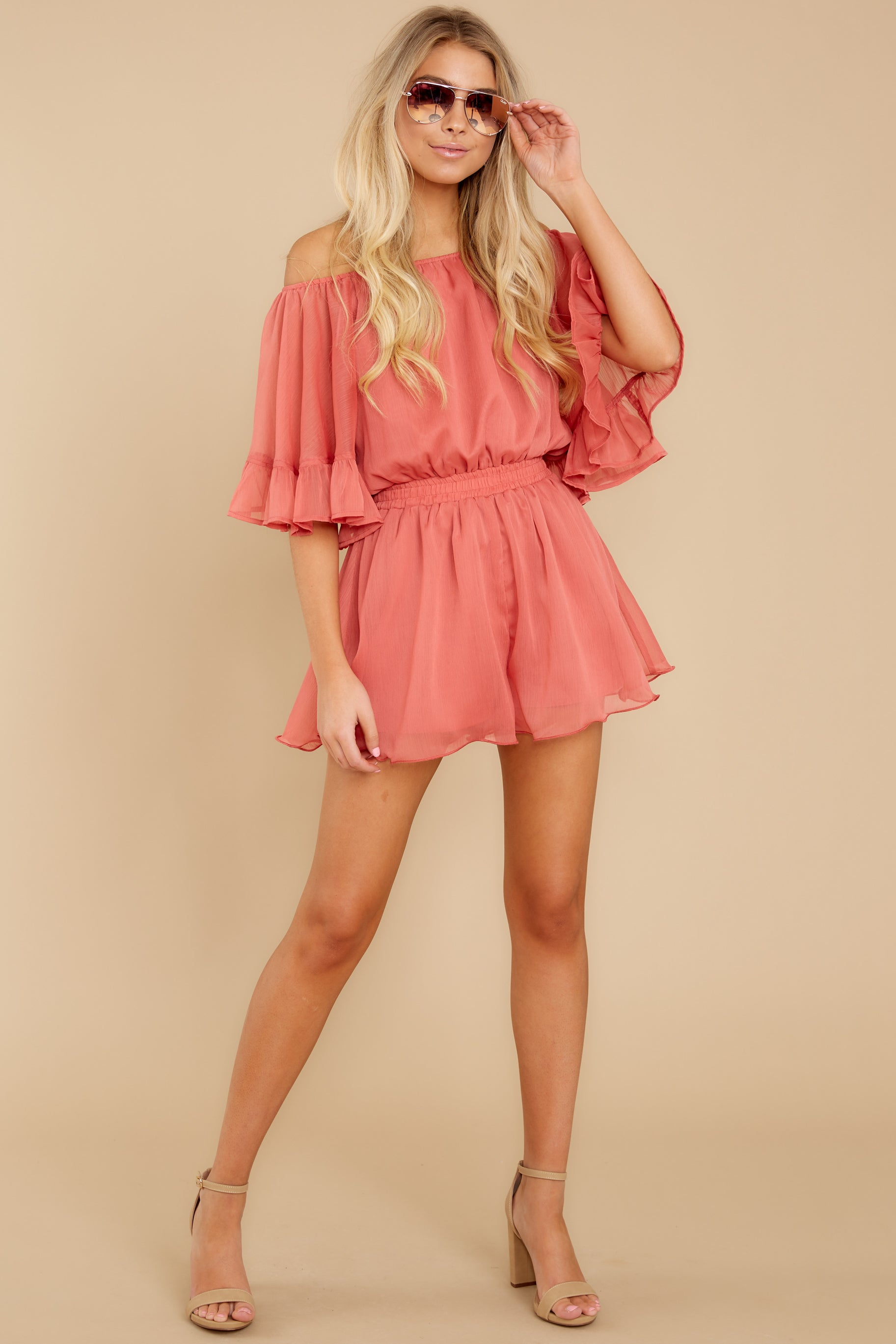 3 A Little Diddy Porcelain Rose Romper at reddress.com