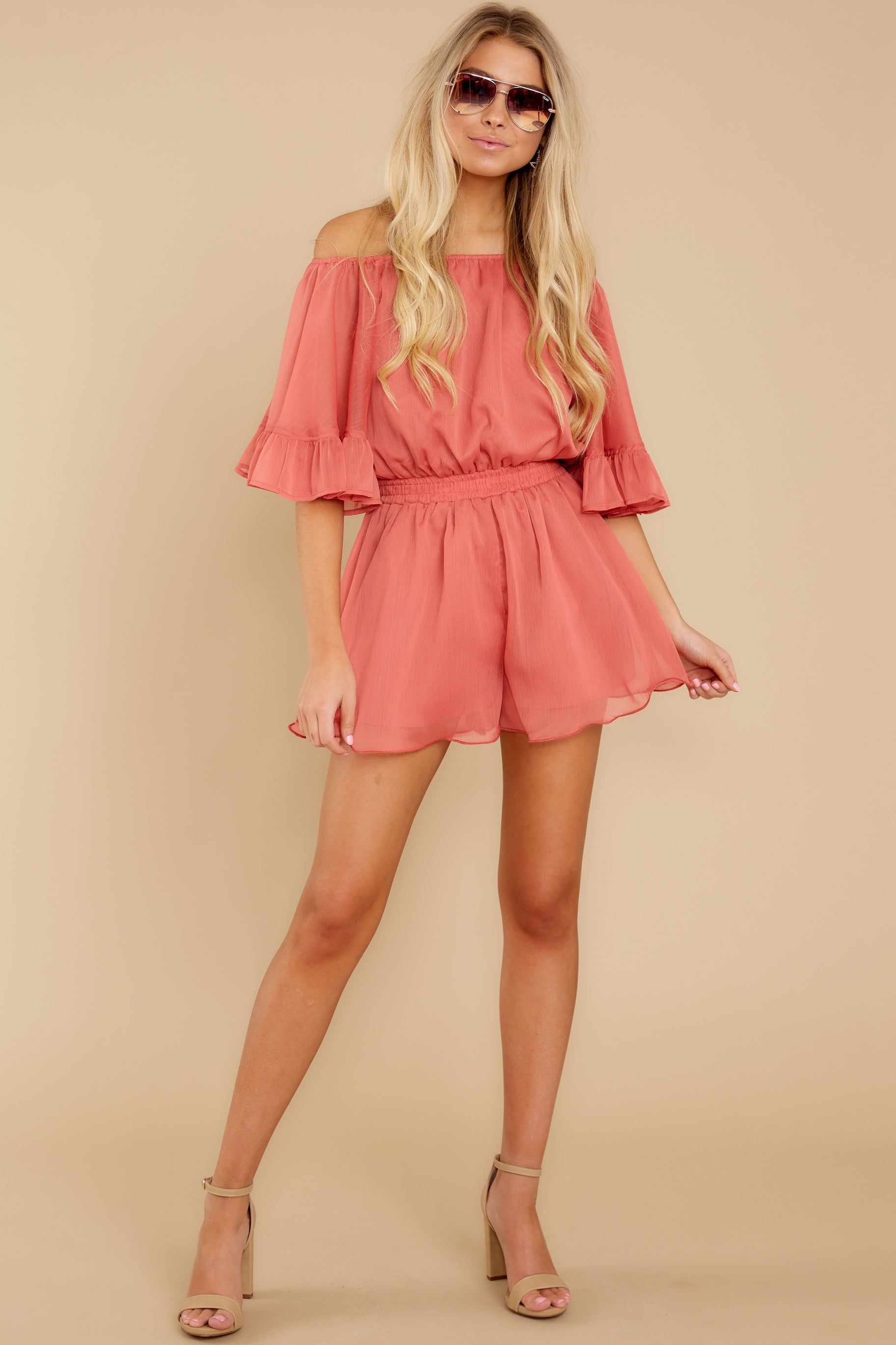 4 A Little Diddy Porcelain Rose Romper at reddress.com