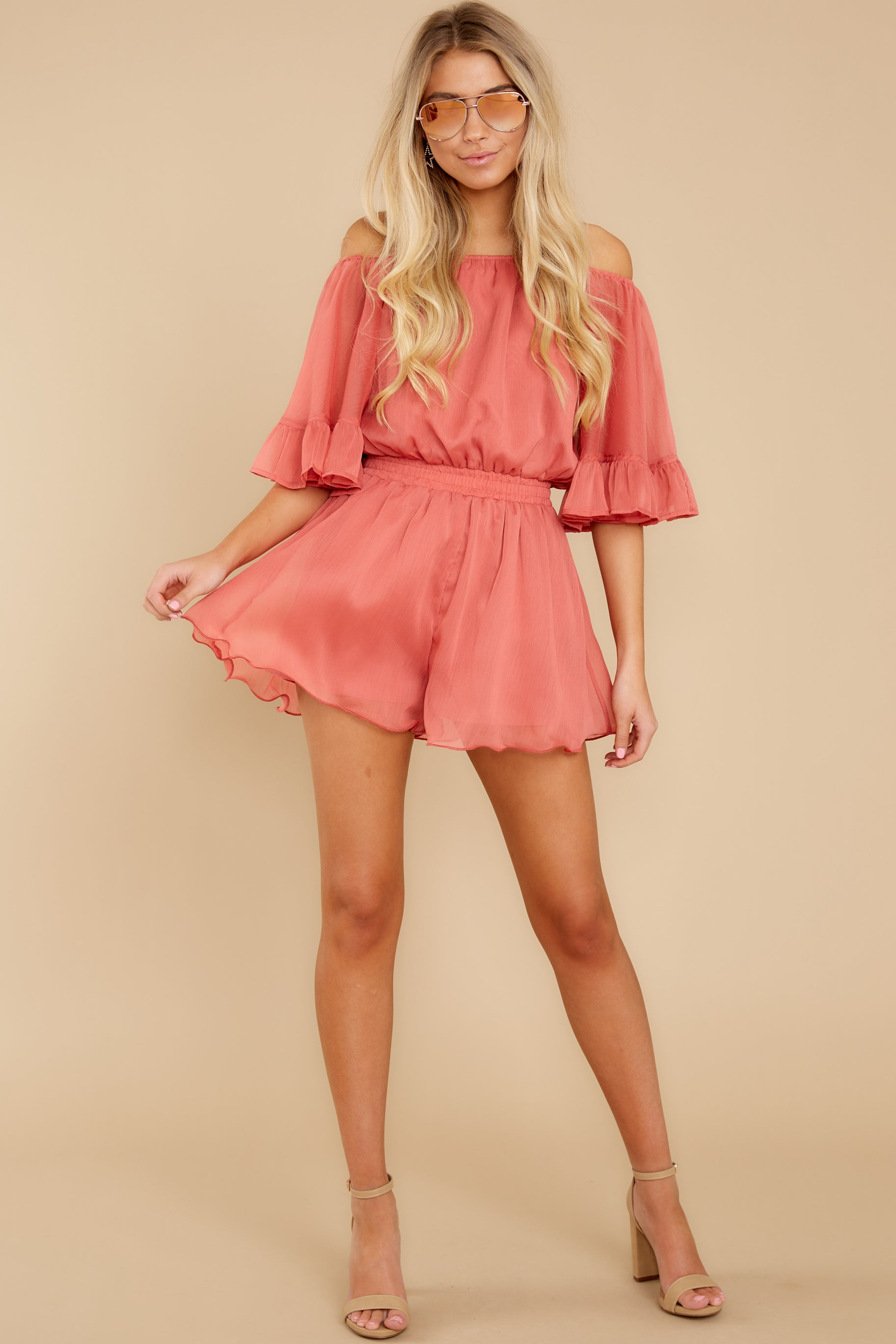 2 A Little Diddy Porcelain Rose Romper at reddress.com
