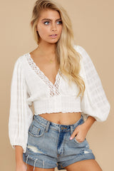 4 A Good Time White Lace Crop Top at reddress.com