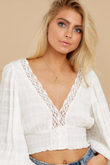 7 A Good Time White Lace Crop Top at reddress.com