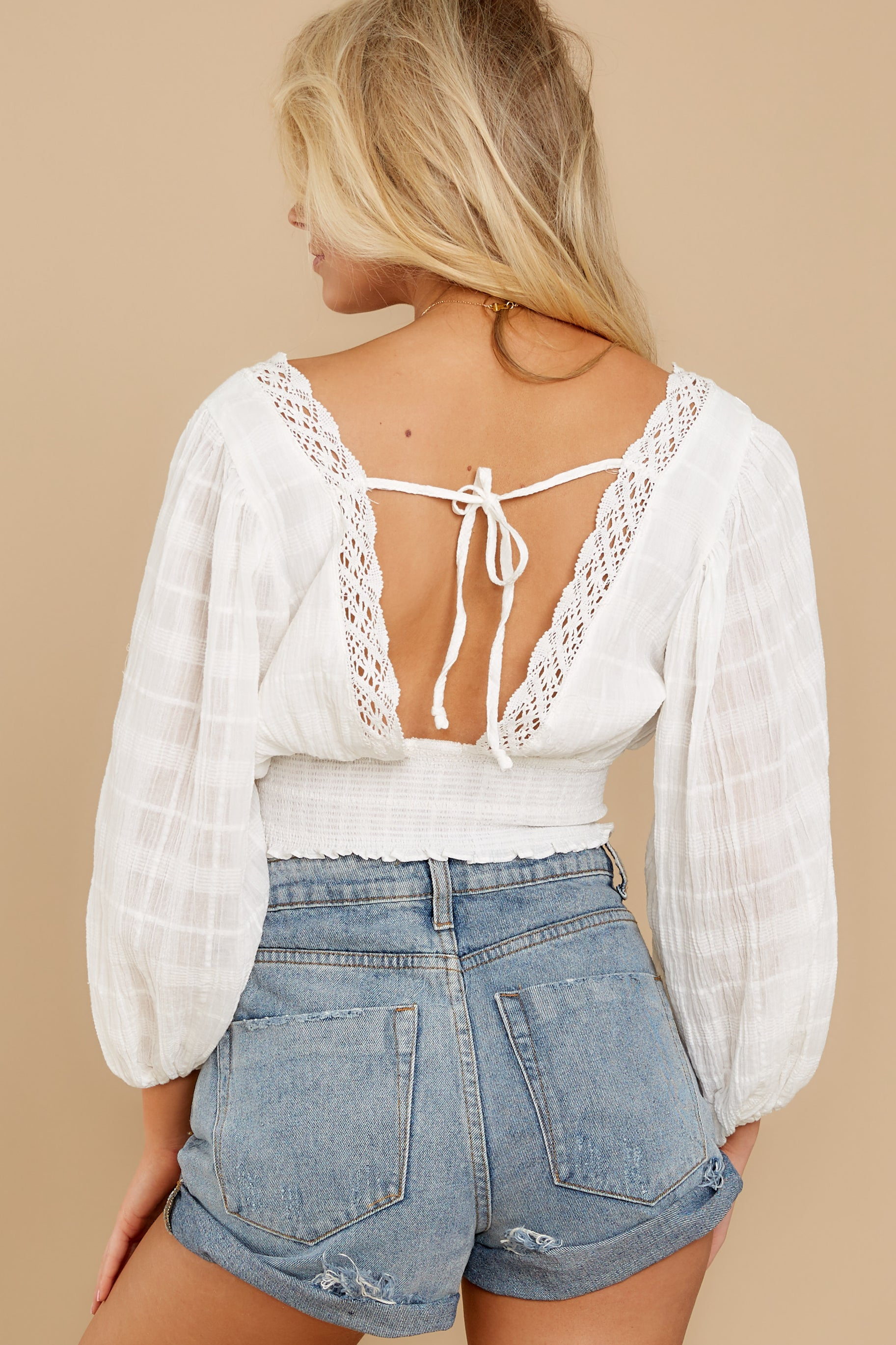 8 A Good Time White Lace Crop Top at reddress.com