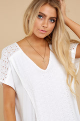 1 All My Time White Eyelet Top at reddress.com