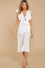 2 Have It Here White Midi Jumpsuit at reddressboutique.com