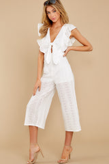 5 Have It Here White Midi Jumpsuit at reddressboutique.com