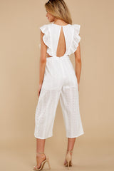 7 Have It Here White Midi Jumpsuit at reddressboutique.com