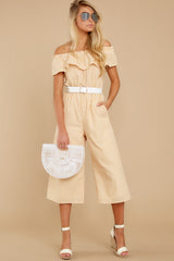 5 Broad Daylight Yellow Stripe Jumpsuit at reddress.com
