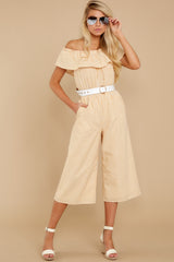 7 Broad Daylight Yellow Stripe Jumpsuit at reddress.com