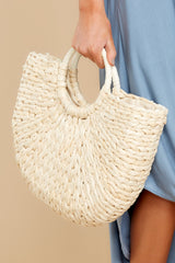 1 Right Back To It Ivory Bag at reddress.com