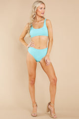 5 Sweet And Sunny Bright Turquoise Bikini Top at reddress.com