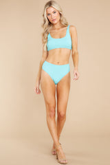 6 Sweet And Sunny Bright Turquoise Bikini Top at reddress.com