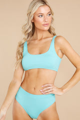 1 Sweet And Sunny Bright Turquoise Bikini Top at reddress.com