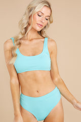 3 Sweet And Sunny Bright Turquoise Bikini Top at reddress.com