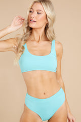 2 Sweet And Sunny Bright Turquoise Bikini Top at reddress.com