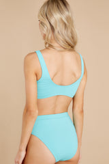 4 Sweet And Sunny Bright Turquoise Bikini Top at reddress.com