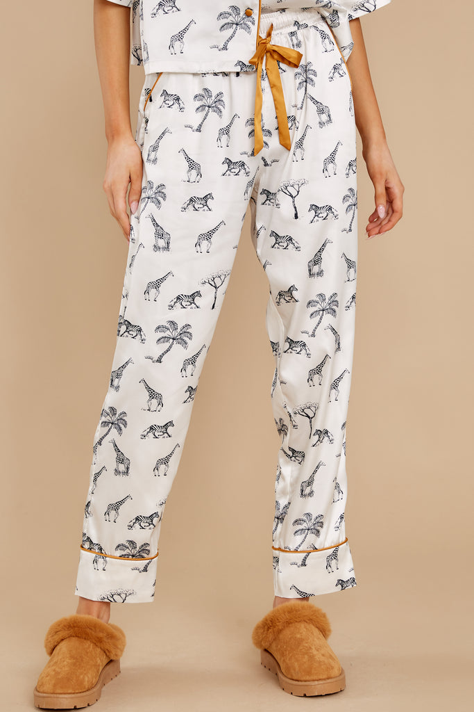 1 Jolie Bone Safari Pajama Pants at reddress.com