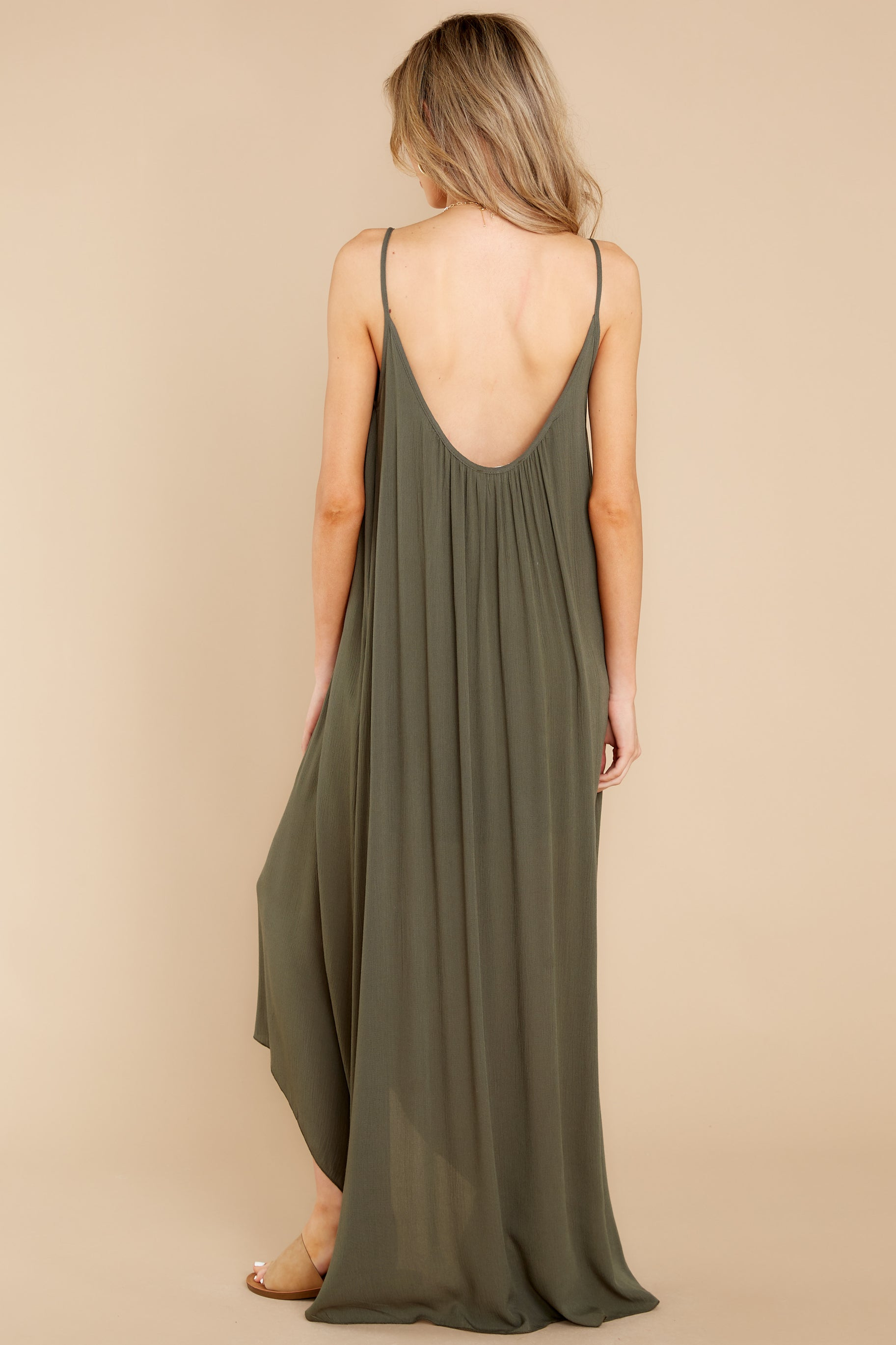 9 Hit The Road Dark Olive Maxi Dress at reddress.com