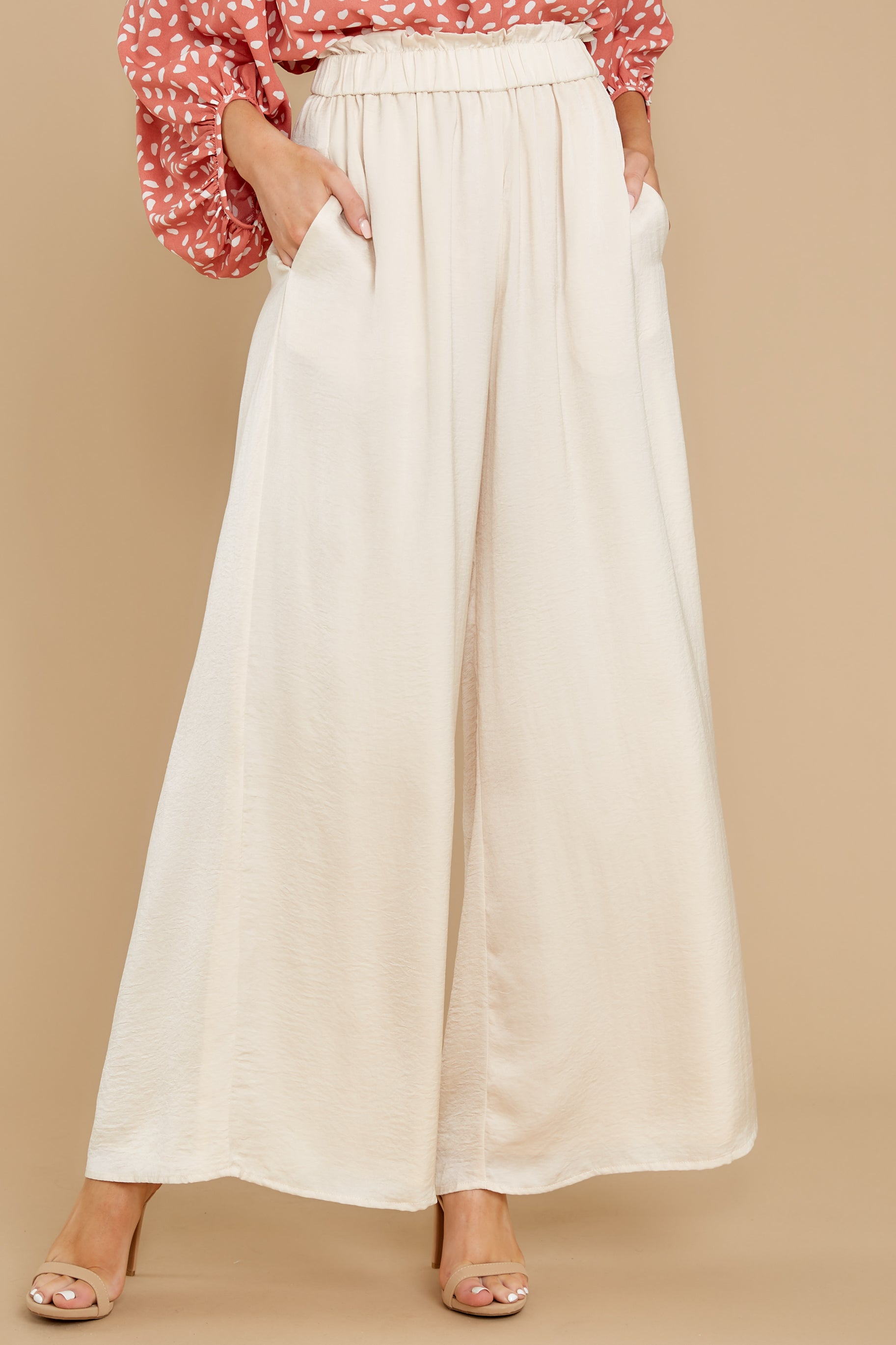 Vintage High Waisted Trousers, Sailor Pants, Jeans English Factory Must Be Certain Ivory Pants $58.00 AT vintagedancer.com