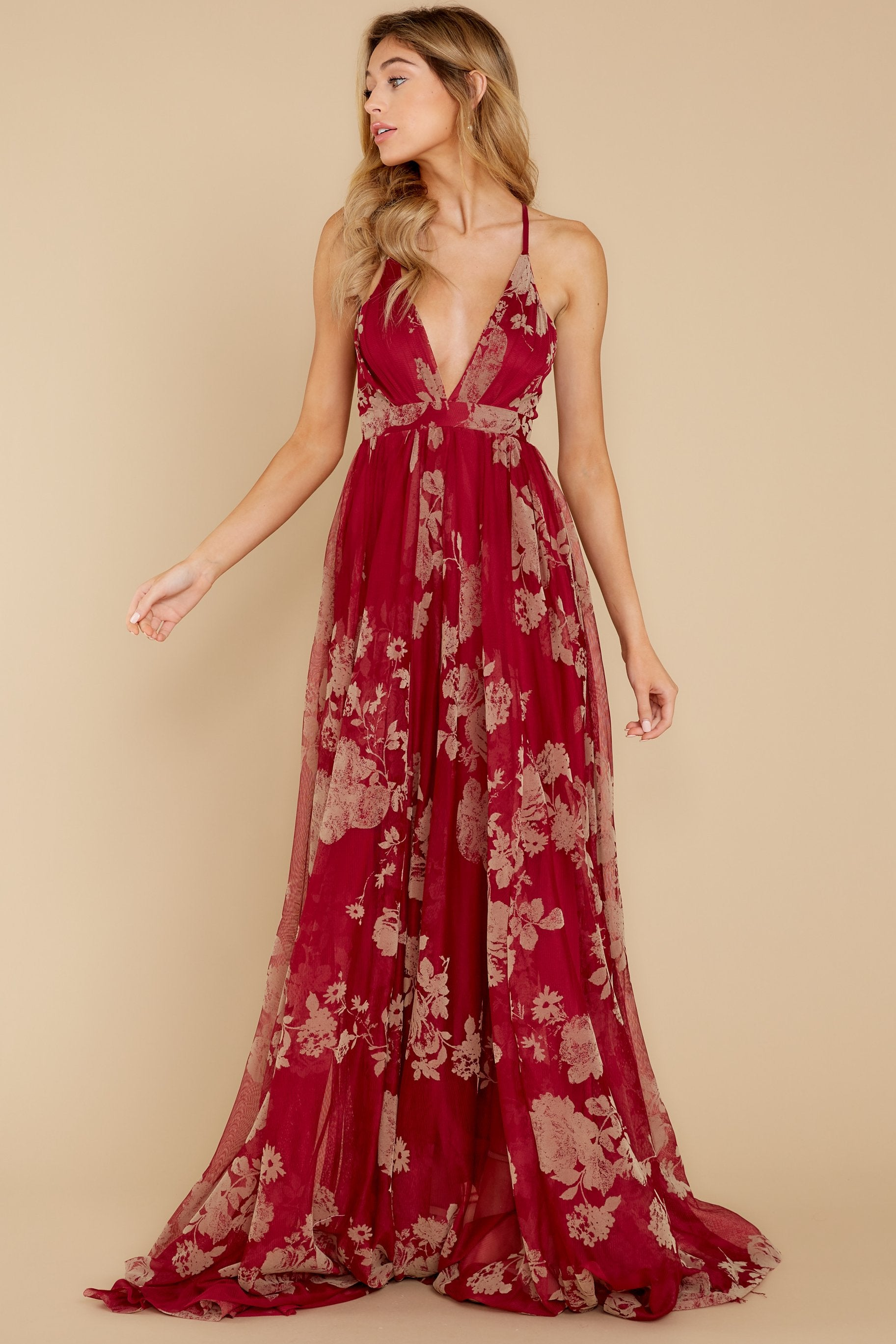 2 Gorgeous Gal Wine Red Maxi Dress at reddress.com