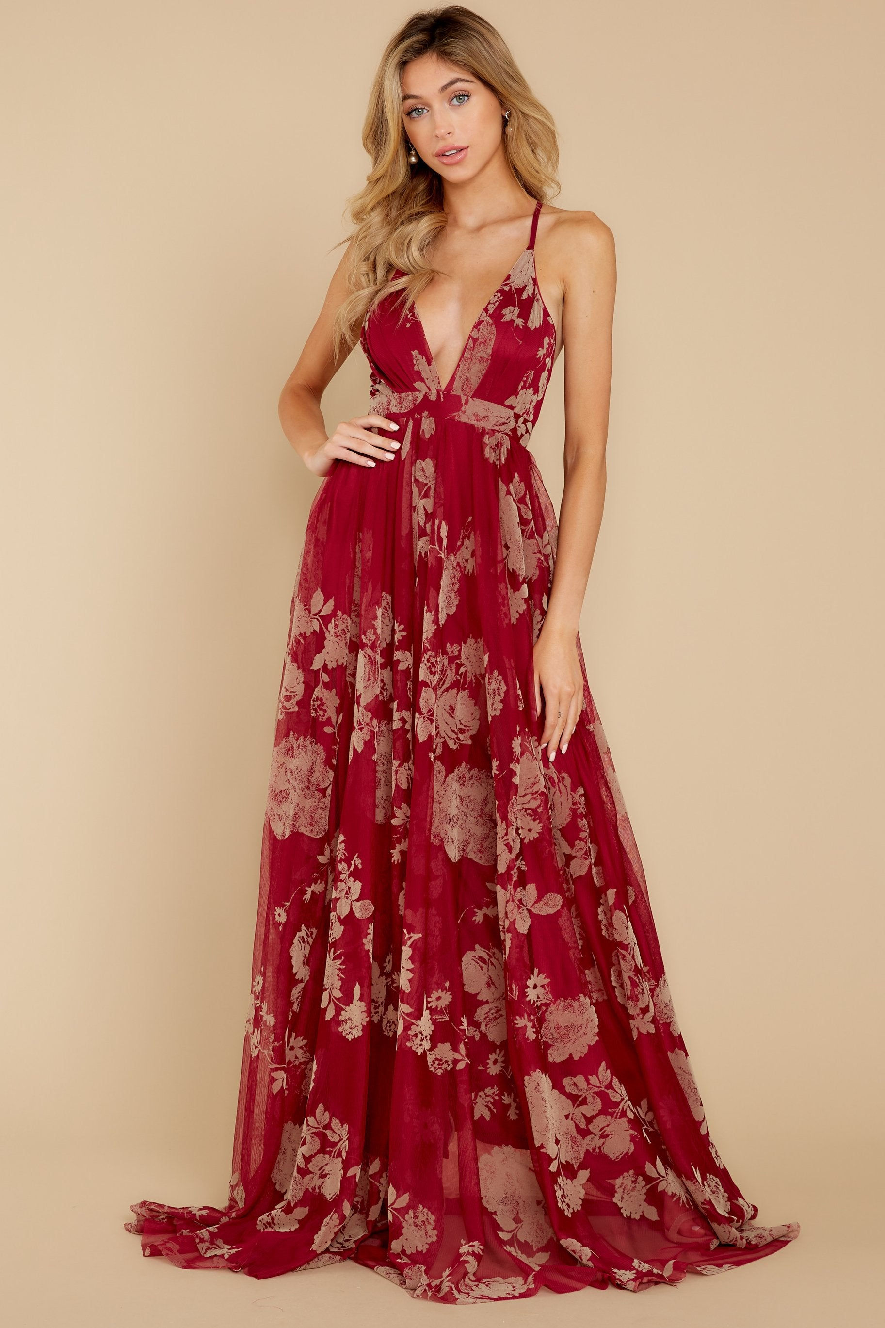 4 Gorgeous Gal Wine Red Maxi Dress at reddress.com