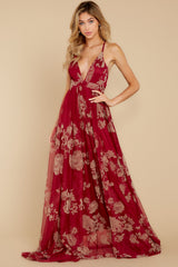 6 Gorgeous Gal Wine Red Maxi Dress at reddressboutique.com