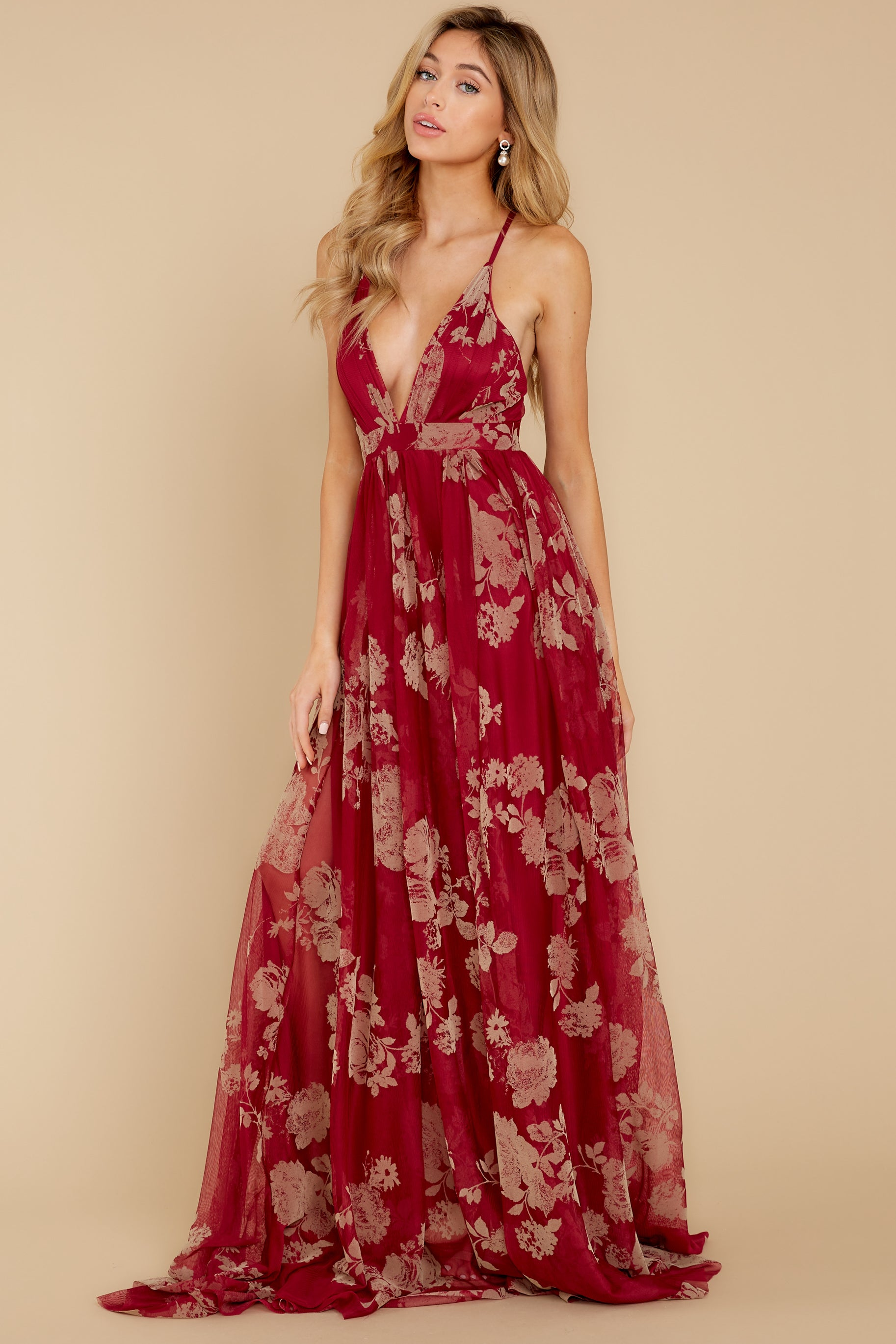 7 Gorgeous Gal Wine Red Maxi Dress at reddress.com