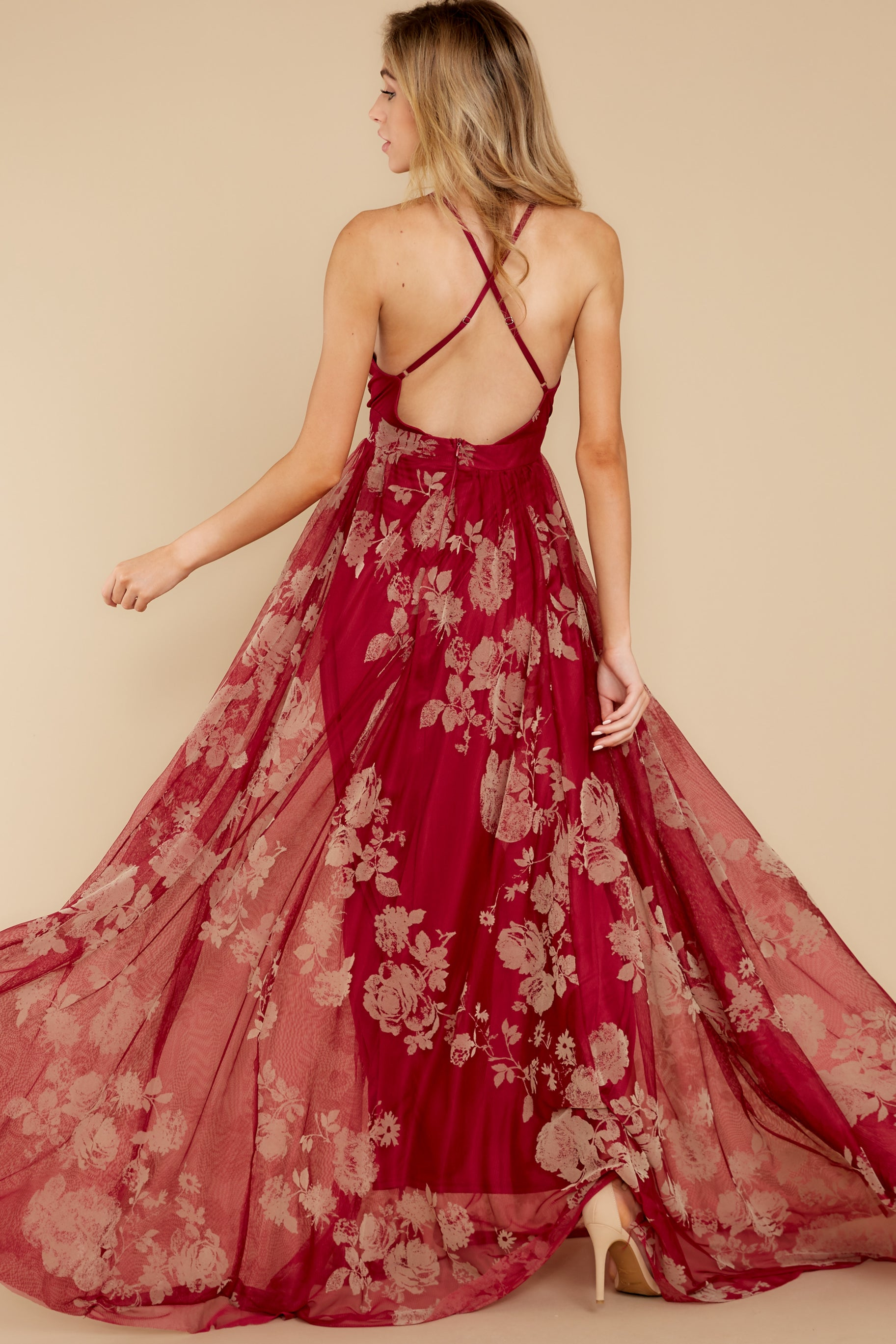 8 Gorgeous Gal Wine Red Maxi Dress at reddress.com