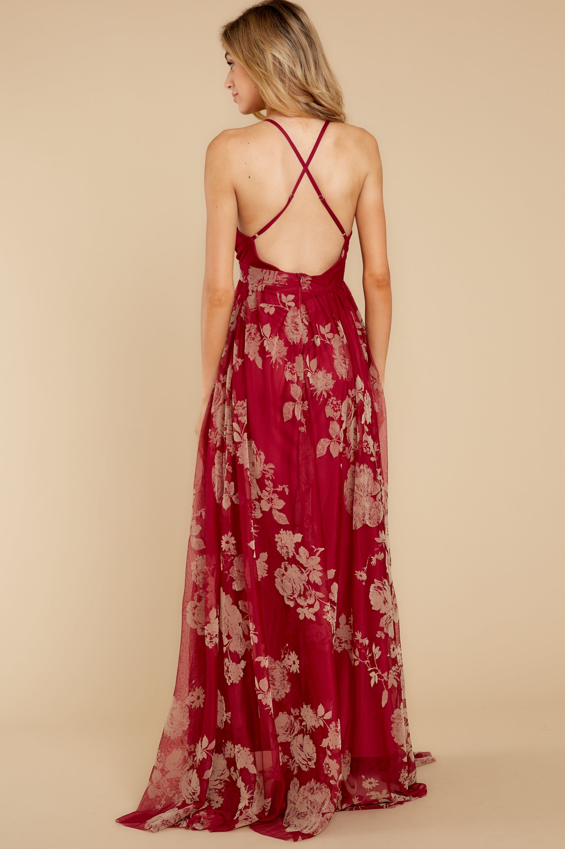 9 Gorgeous Gal Wine Red Maxi Dress at reddressboutique.com