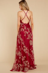 9 Gorgeous Gal Wine Red Maxi Dress at reddress.com