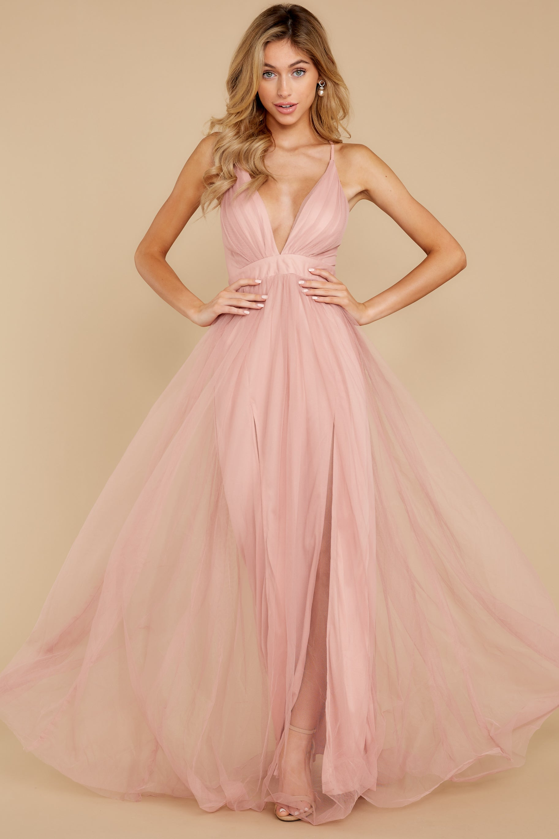 1 Matters Of The Heart Dusty Pink Maxi Dress at reddressboutique.com