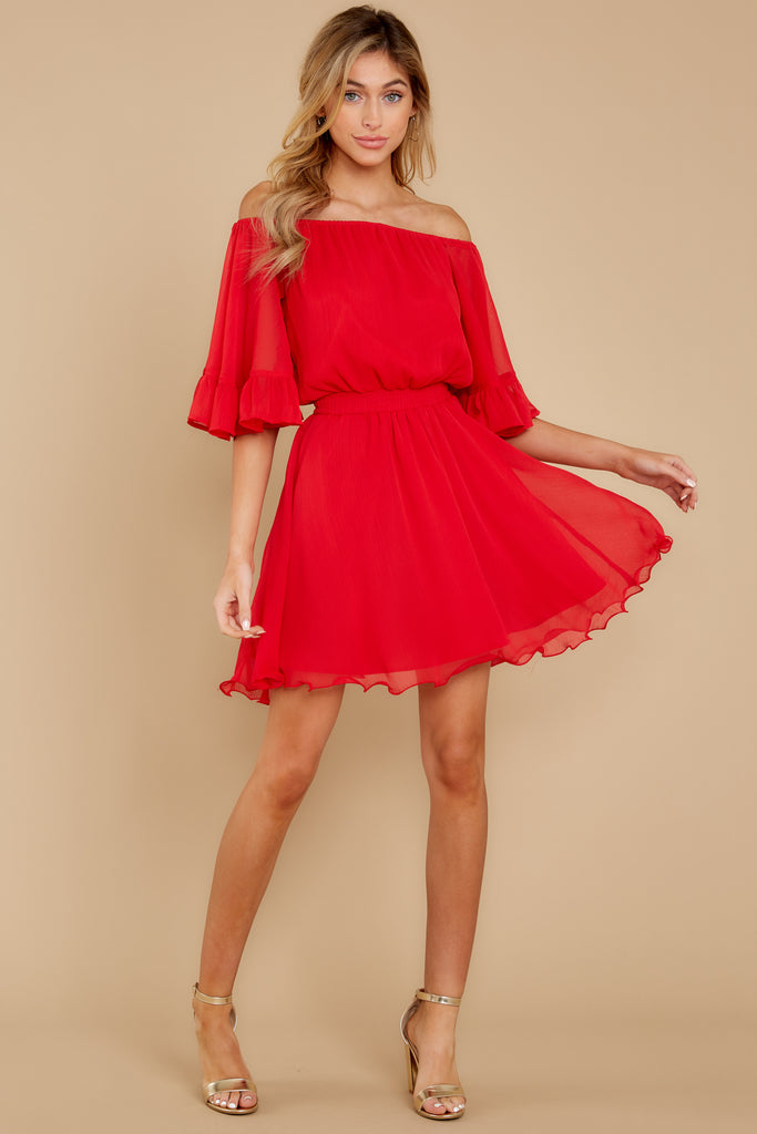 1 Better For It Red Lace Dress at reddressboutique.com