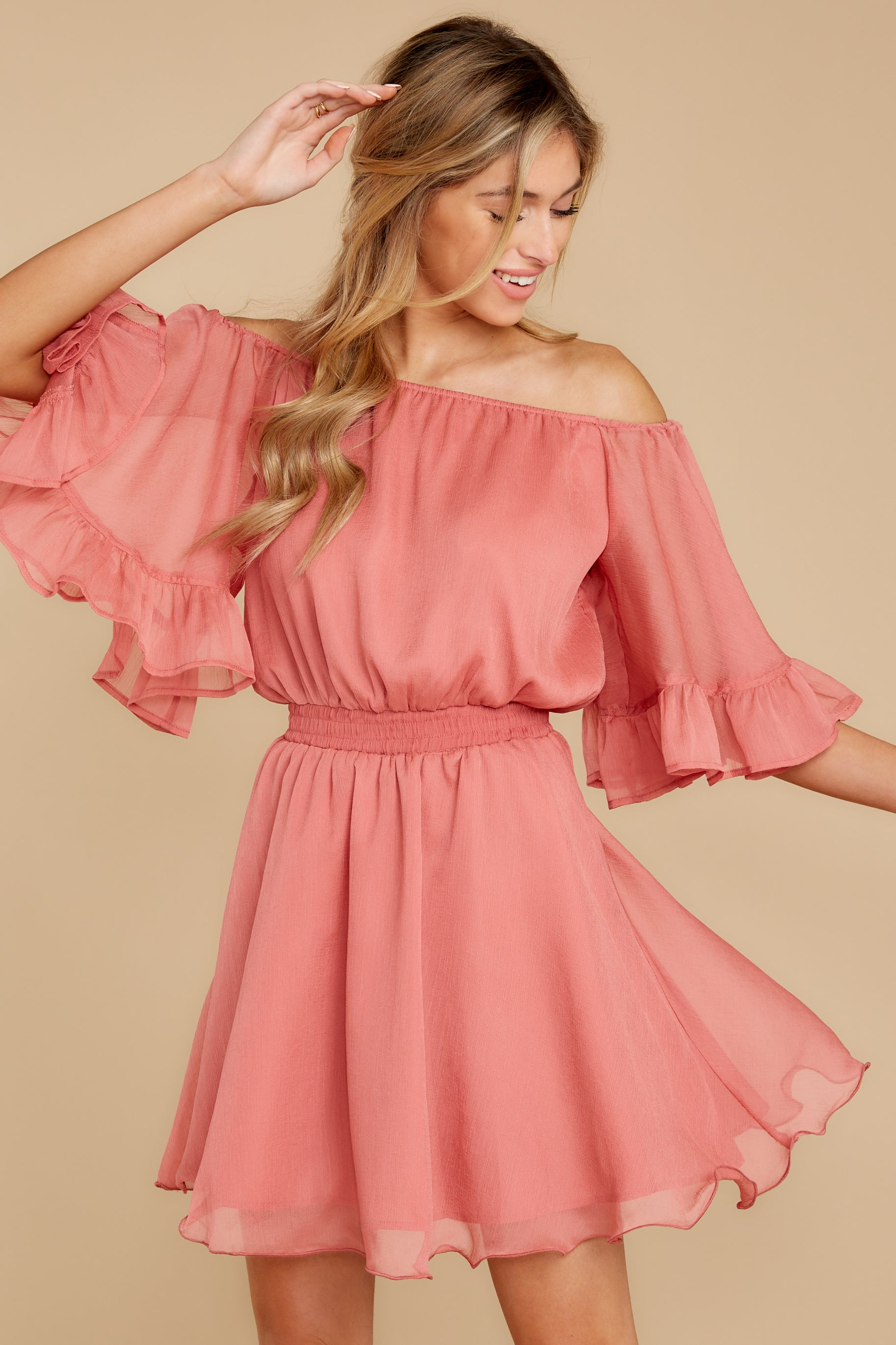 8 Effortless Grace Porcelain Rose Dress at reddressboutique.com