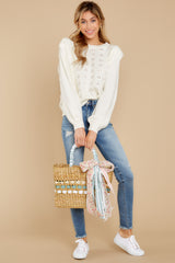 2  All About Me Ivory Sweater at reddressboutique.com